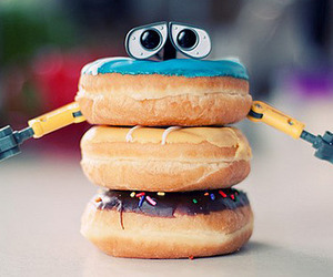 donut, sweets, and robot image