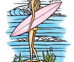 beach, summertime, and surfer girl image