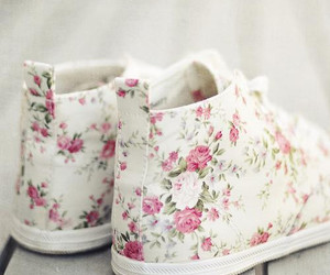pretty, roses, and sneakers image