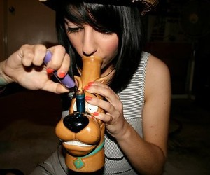 bong, scooby doo, and weed image