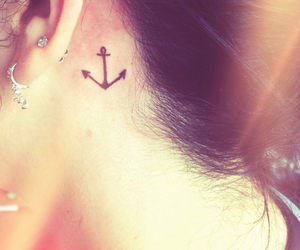 anchor, girly, and tattoo image