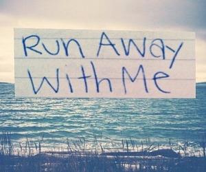 love, run, and away image