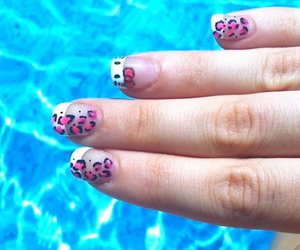 hello kitty, leopard print, and nails image