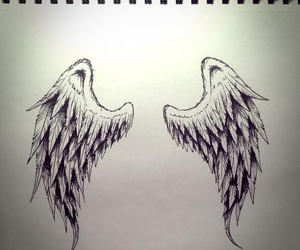 beatiful, wings, and draw image