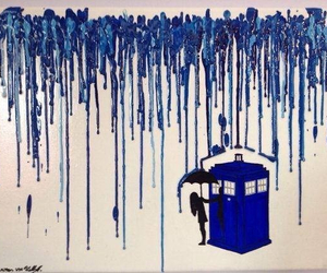 doctor who, art, and tardis image