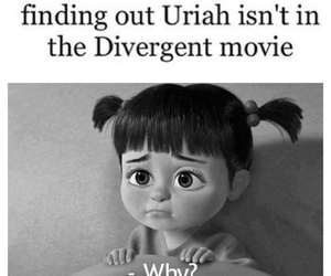 divergent, sad, and uriah image
