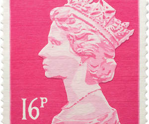 pink, stamp, and Queen image