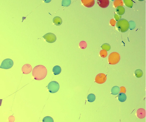 art, balloons, and colorful image