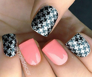 black, nail art, and white image