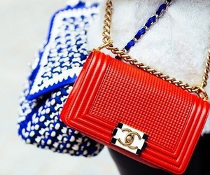 chanel, red, and boy bag image