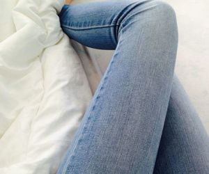 jeans, legs, and bed image
