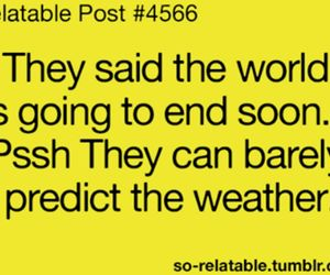 weather, funny, and quote image