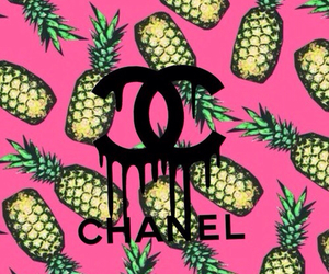 chanel, back ground, and pineapples image