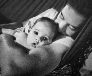 baby, dad, and sweet image