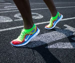 color, nike, and run image