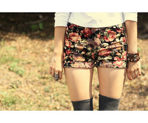 shorts, fashion, and floral image