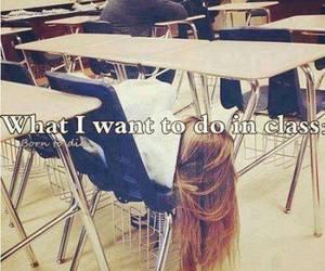 school, sleep, and class image