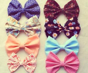bows, hair, and lots image
