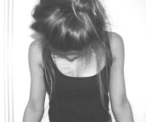 girl, hair, and bun image
