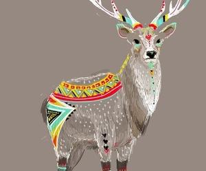 art, deer, and animal image