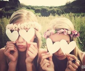 <3, friends, and girl image