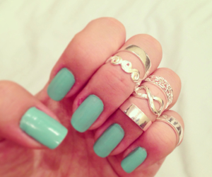 blue, nails, and rings image