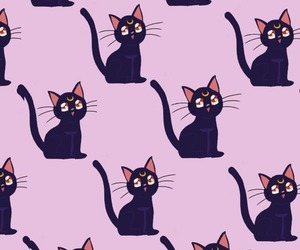 cat, wallpaper, and sailor moon image