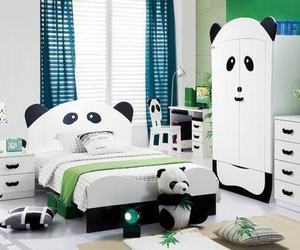 panda, room, and bedroom image