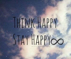 happy, quotes, and sky image