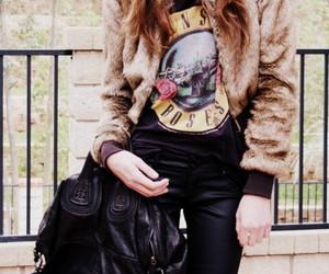 Guns N Roses, fashion, and girl image