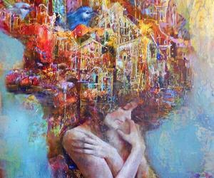 girl, art, and city image