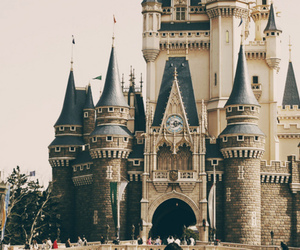 castle, disney, and disneyland image