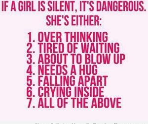 girl, hug, and silent image