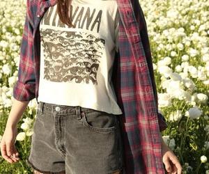 nirvana, fashion, and flannel image