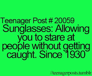 teenager post and sunglasses image