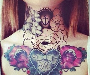 heart, ink, and rose image