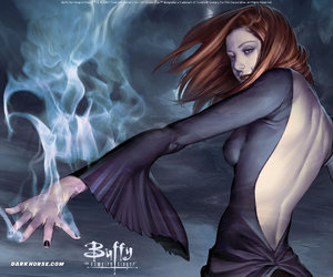 magic, willow, and btvs image