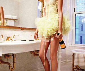 girl, model, and champagne image