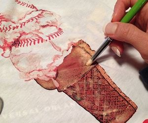 art, baseball, and fashion image