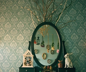 mirror, vintage, and rabbit image