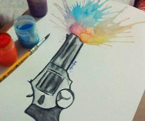 color, drawing, and gun image