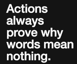 Action, words, and love image