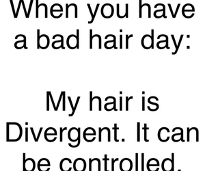 divergent and hair image