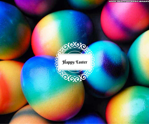 happy easter and colorful eggs image