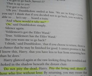 albus dumbledore, books, and deathly hallows image