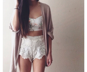 fashion, cardigan, and lace image