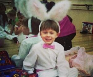 baby, boy, and bunny image