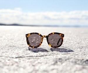 sunglasses, summer, and beach image