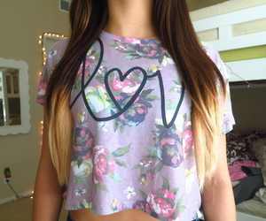 love, hair, and tumblr image