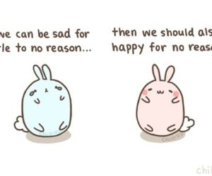 bunny, happy, and quote image